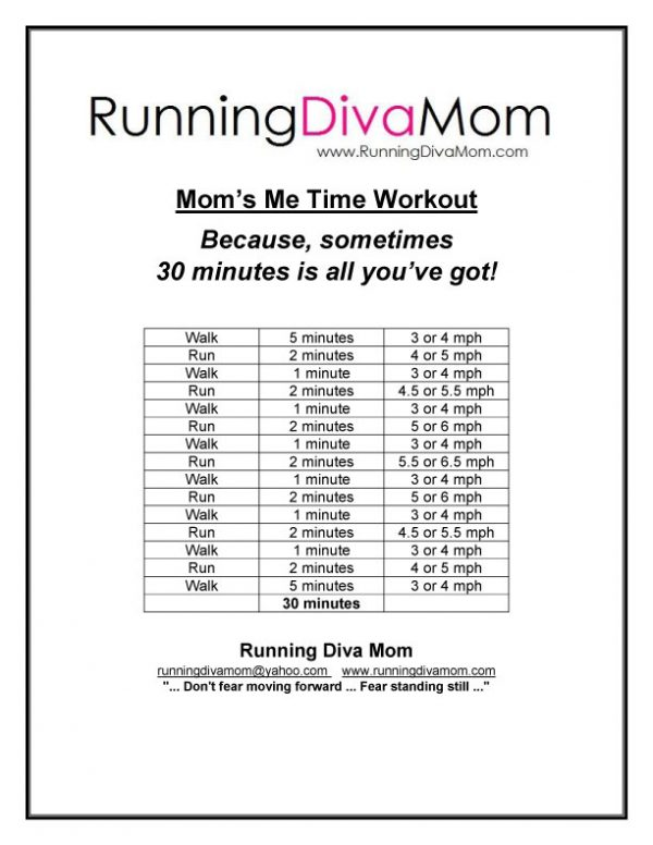 Mom's Me Time Workout - 30 minutes