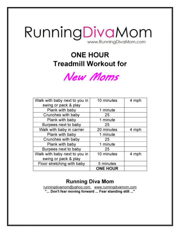 Treadmill Workout for New Moms